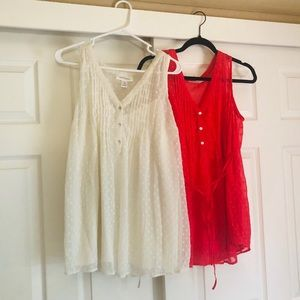 Set of 2 maternity blouses